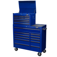 MAXIM 20 Drawer Combo Blue Toolbox & Roll Cabinet