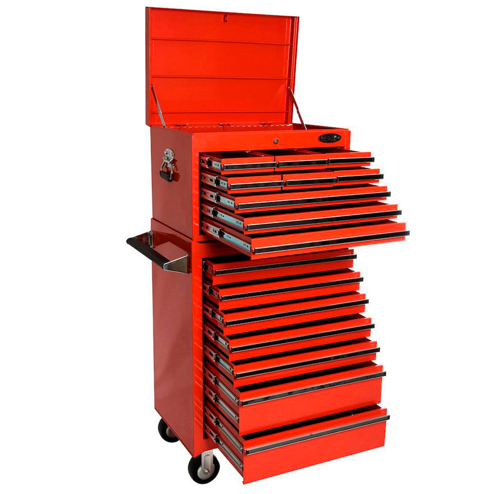 Purchase MAXIM 16 Drawer Combo Red Top Tool Chest Roll Cabinet ...