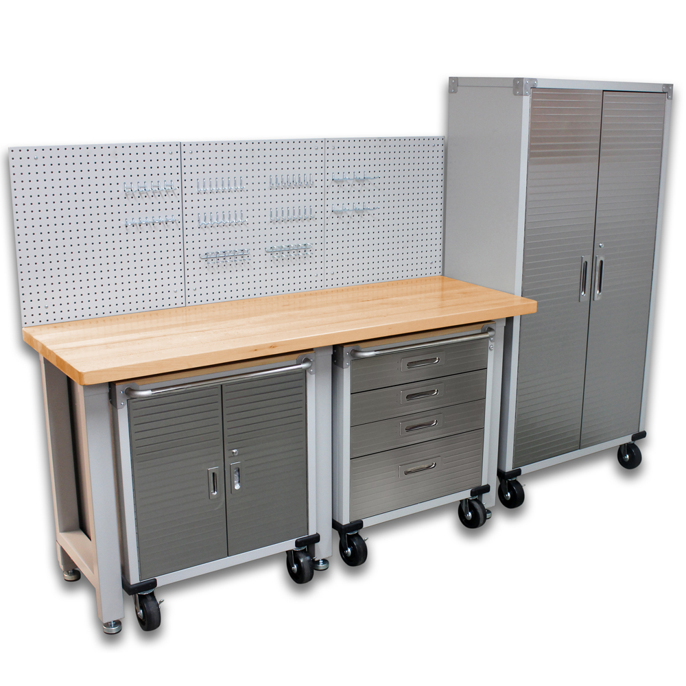 SEVILLE CLASSICS 5 Piece Garage Storage System With Mobile