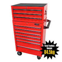 MAXIM 10 Drawer Combo Red Intermediate Box & Roll Cabinet 27 inch