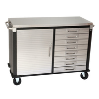 MAXIM HD 48 inch 8 Drawer Stainless Steel Top Roll Cabinet PI249ES