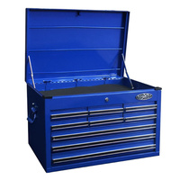 MAXIM 9 Drawer Blue Top Chest 27 inch PI 012 BL