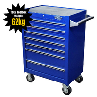 MAXIM 7 Drawer Blue Roll Cabinet 27 inch PI 003 BL