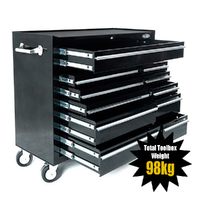 MAXIM 11 Drawer Black Roll Cabinet 42 inch PI 010B Bk