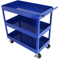 MAXIM 3 Tier Blue Trolley Mobile Tool Cart PI 3203T BL