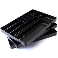 STEALTH Set of 3 x 10 Compartment Black Tool Trays 5011