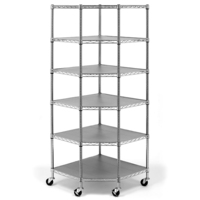MAXIM 6 Tier Commercial Corner Wire Rack Shelving System PI249