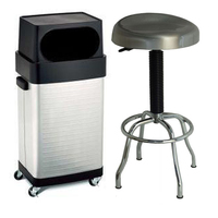MAXIM HD Stainless Steel Stool and Bin Package