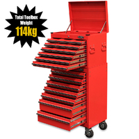 NEW MAXIM 19 Drawer Combo Red Top Tool Chest & Roll Cabinet 27 inch Series Tool Boxes