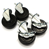 Set of 4 Small Swivel Castors (Wheels)