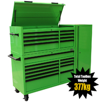 "MAXIM 54"" Green Complete Toolbox Combination with 23 Drawers - Professional Mechanic Tool Box Storage for Workshops"