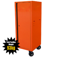 "MAXIM 54"" & 72"" Orange Locker with 5 Drawers attaches to the Roll Cabinet - optional wheels can be fitted"