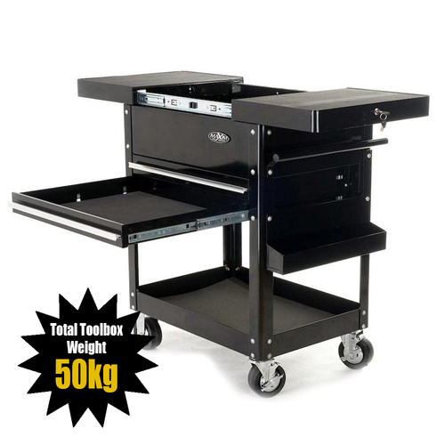 MAXIM Black Bench Service Cart PI 008 B (Available June 10, 2021)