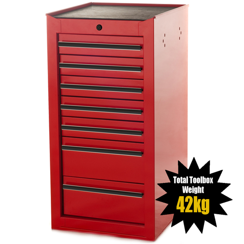 MAXIM 7 Drawer Red Side Cabinet for 42 inch Series PI 003 SC Red
