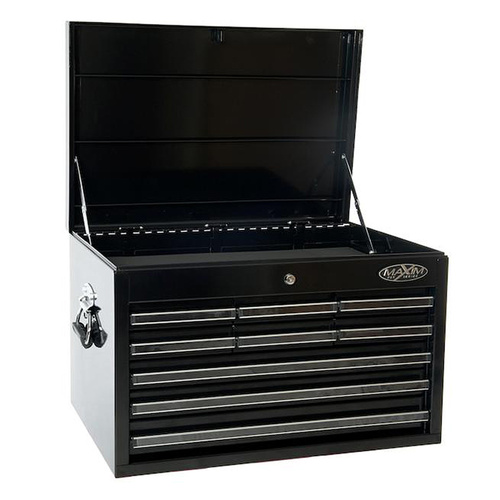 MAXIM 9 Drawer Black Top Chest 27 inch PI 012 Bk
